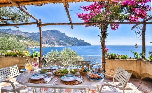 Villa with terrace and sea view in Ravello ID 3196